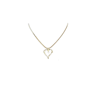 Heart Shaped Pendant with Diamond 14 kt - SALE