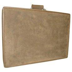 Hartman Ultra Suede  Leather Luggage Vintage Suitcase Designer