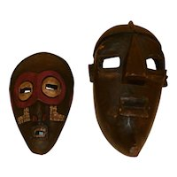 Wood Carved Masks (2) - Ghana & S. Africa