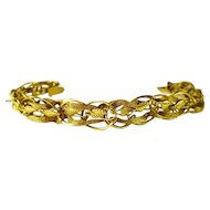 Fancy Braided 14 kt. Gold Bracelet -reduced