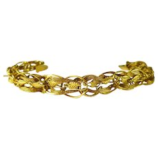 Fancy Braided 14 kt. Gold Bracelet -reduced