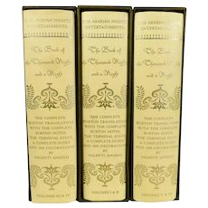 The Arabian Nights Entertainment by Sir Richard Burton, 6 Volume Set
