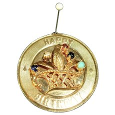 "14kt ""Happy Birthday"" Charm"