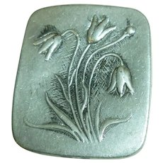 R Tennesmed Pewter Brooch