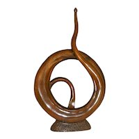 Claro Walnut Wood Sculpture by R.J. Churchill MCM
