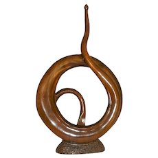 Claro Walnut Wood Sculpture by R.J. Churchhill
