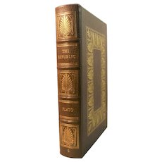 The Republic by Plato (427 - 347 B. C.) Leather Bound Book