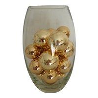 Large Clear Glass Decorating Vase MCM