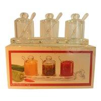 MCM Small 3 Jar Condiment Set Acrylic