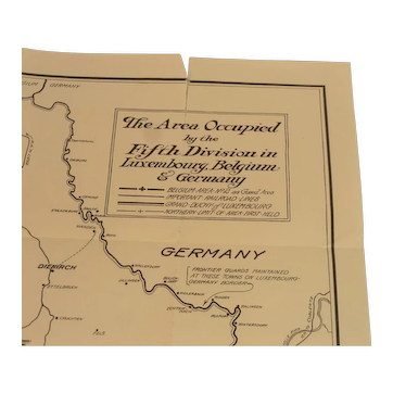 WWI Area Occupied by the Fifth Division
