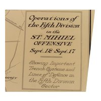 WWI Trench Map Ops of  5th Div. in the St. Mihiel Offensive