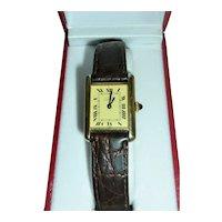 Cartier Tank Watch Vermeil