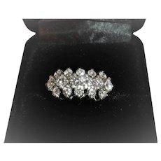 Lady's 14 Karat White Gold Diamond Ring
