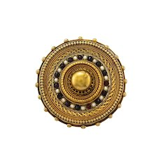 Antique Etruscan Revival High Karat 18K to 20K Gold Locket Brooch