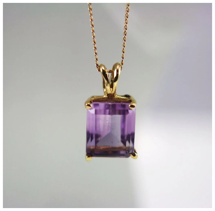 Vintage 14k yellow gold amethyst pendant with 14k gold necklace vintage 14k yellow gold amethyst pendant with 14k gold necklace aloadofball Images