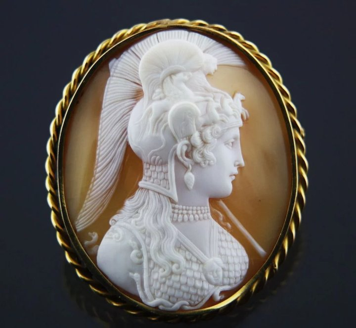 Antiques Decorative Arts Analytical Antique Victorian Shell Cameo Pendant .900 Silver Mount