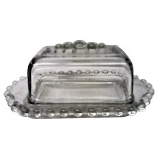 Vintage Imperial Elegant Depression Glass Candlewick California Covered Butter Dish