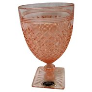 Vintage Pink Miss America Footed Water Goblet