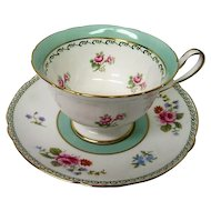 Shelley Porcelain Floral Decorated Cup and Saucer