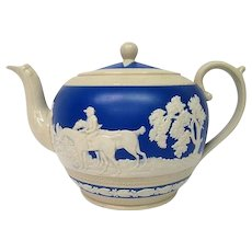 Spode Copeland Hunt Scene Decorated Tea Pot