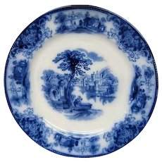 Flow Blue Shanghi Dinner Plate by Grindley