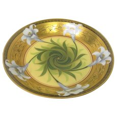 Hand Painted Pickard Easter Lily Bowl Artist Signed