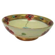 Hand Painted Pickard Footed Poppy Bowl