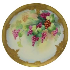 Hand Painted Pickard Grape Plate Artist Signed