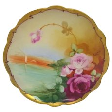 Hand Painted Pickard Roses Artist Signed