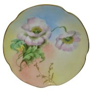 Hand painted Pickard White Poppies Artist Signed