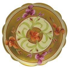 Hand Painted Pickard Iris Plate