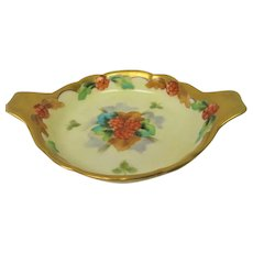 Hand Painted Pickard Raspberries Two Handled Tray