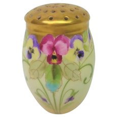 Hand Painted Pickard Pansy Muffiner Artist Signed