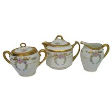 Hand Painted Pickard Floral Tea Set