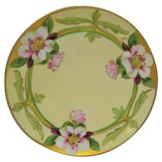 Hand Painted Julius Brauer Floral Plate