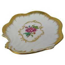 Hand Painted Floral Herend Pin Tray