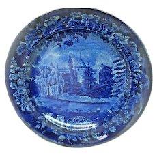 Dark Blue and White Historic Plate