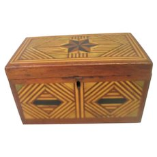 Marquetry Inlaid Wood Box