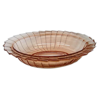 Pink Depression Glass Sierra Pinwheel Oval Vegetable Bowl