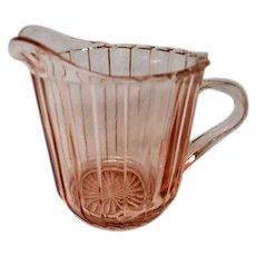Pink Depression Glass Sienna Pinwheel Creamer