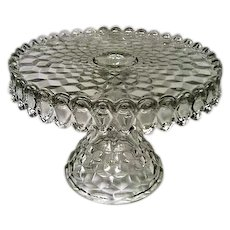 Fostoria American Pattern Footed Round Cake Stand