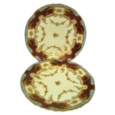 Two Hand Painted Dresden Plates