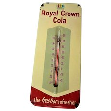 Metal Royal Crown Cola Advertising Thermometer