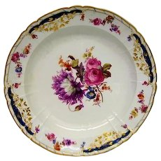 Huge Hand Painted KPM Floral Round Tray