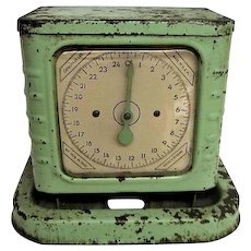 RARE Vintage R.A. Hunter Kitchen  Green Scale.  Working.  Art Deco