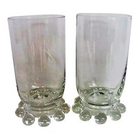 Two Crystal Candlewick Juice Tumblers