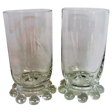 Two Crystal Candlewick Juice Tumblers