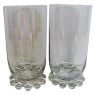 Two Crystal Candlewick Water Tumblers