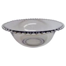 Vintage Crystal Candlewick Salad Bowl