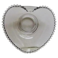 Crystal Candlewick RARE Large Heart Shaped Bowl